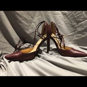 Maroon Chase  and Chloe lace up heels